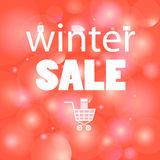 Winter sales message Royalty Free Stock Photography