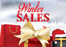 Winter sales poster Royalty Free Stock Photo