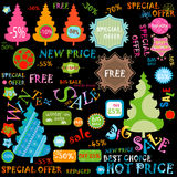Winter sales set Royalty Free Stock Photos