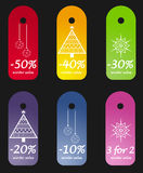 Winter sales tags Stock Photos