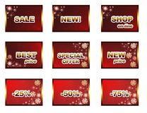 Winter sales template royalty free illustration