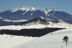 Winter, San Francisco Peaks. Coconino National Forest, Arizona Royalty Free Stock Photo