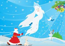 Winter and Santa Claus Stock Photography