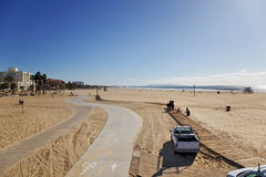 Winter Santa Monica beach scene Royalty Free Stock Photography