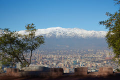 Winter in Santiago Stock Image