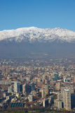 Winter in Santiago Royalty Free Stock Image