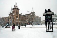 Winter Saratow das Konservatorium Lizenzfreies Stockfoto