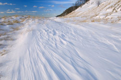 Winter, Saugatuck Dunes. State Park with drifted snow, Lake, Michigan, Michigan, USA Stock Photography