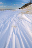 Winter, Saugatuck Dunes. Winter landscape with fresh drifted snow, Saugatuck Dunes State Park, Lake Michigan, Michigan, USA Stock Photo
