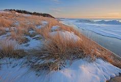 Free Winter, Saugatuck Dunes Lake Michigan Stock Images - 182453884