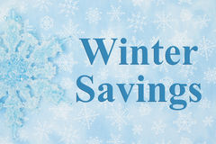 Winter Savings message Royalty Free Stock Photo