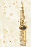 Winter-Saxophon Stockfotografie