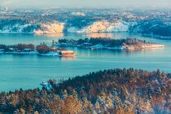 Winter Scandinavian scenery Stock Photo