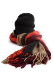 Winter scarf and hat Royalty Free Stock Photography