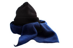 Winter scarf and hat Royalty Free Stock Photos