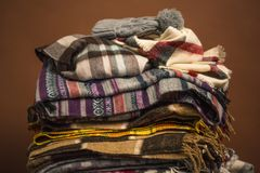 Winter scarfs Royalty Free Stock Image