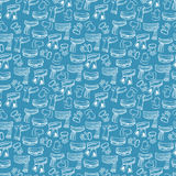 Winter scarves, mittens seamless pattern Royalty Free Stock Photography