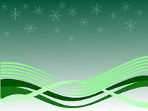 Winter scene. Vector illustration of an abstract green winter background Royalty Free Stock Photo