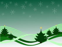 Winter scene. Vector illustration of an abstract green winter background Stock Images