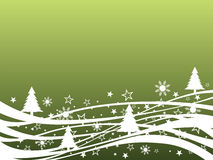 Winter scene. Vector illustration of an abstract green winter background Royalty Free Stock Images