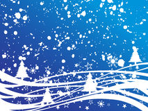 Winter scene. Vector illustration of an abstract winter landscape Stock Images