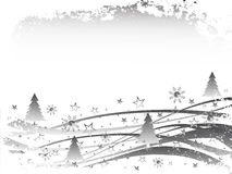 Winter scene. Vector illustration of an abstract winter landscape Royalty Free Stock Photography