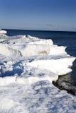 Winter scene. Beautiful winter nature scene, snow and ice around ocean Stock Photo