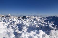Winter scene. Beautiful winter nature scene, snow and ice around ocean Stock Image