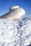 Winter scene. Beautiful winter nature scene, snow and ice around ocean Royalty Free Stock Image