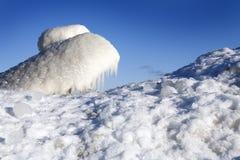 Winter scene. Beautiful winter nature scene, snow and ice around ocean Stock Photos