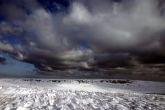 Winter scene 2. Dark and stormy snow scene Royalty Free Stock Photography