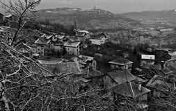Winter Scene above Sarajevo, Bosnia and Herzegovina Royalty Free Stock Photos