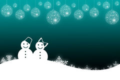 Winter scene background with snowman Royalty Free Stock Photos