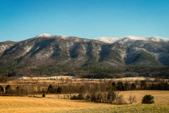 Winter scene from Cades Cove Royalty Free Stock Photos