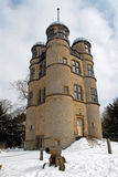 Chatsworth Hunting Lodge in the Snow Royalty Free Stock Photos