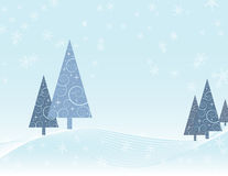 Winter scene Christmas card Stock Image