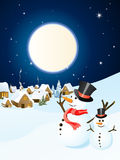 Winter scene - christmas card Royalty Free Stock Photos
