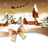 Winter scene - christmas card Stock Photo