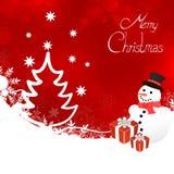 Winter scene - christmas card Stock Images
