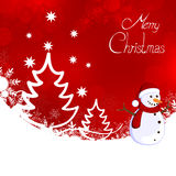 Winter scene - christmas card Royalty Free Stock Photography