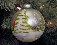 `Winter Scene` Christmas Ornament Royalty Free Stock Photography