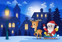 Winter scene with Christmas theme 6 Royalty Free Stock Photo