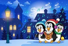 Winter scene with Christmas theme 8 Stock Image