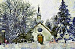 Winter Scene. Close to my home, Ste-Adele, Quebec Royalty Free Stock Photos