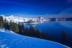Winter Scene at Crater Lake Stock Images