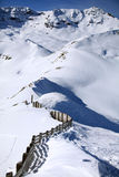 Winter scene / dream. Snowy winter landsape, Laax, Switzerland Royalty Free Stock Photo