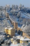 Winter scene in Florence, Mura di Cinta Forte Belvedere Royalty Free Stock Images