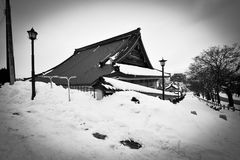 Winter scene Hakkodate, Hokkaido, Japan. Winter scene at Hakkodate hill during heavy snowing Royalty Free Stock Photos