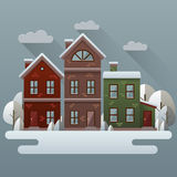 Winter scene illustration. Royalty Free Stock Photography