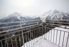 Winter scene Mayrhofen Austria. Image of stormy winter scene in Mayrhofen, Austria Stock Photos